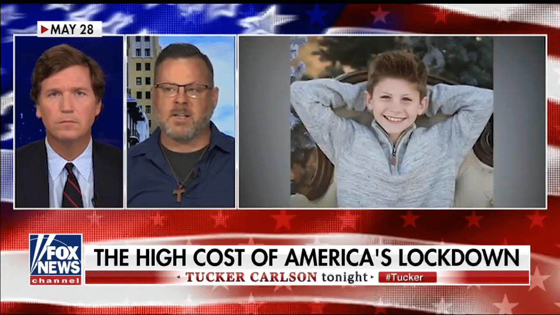 Tucker Carlson: Nařízení karantény ničí lidem životy & Narostla míra sebevražd