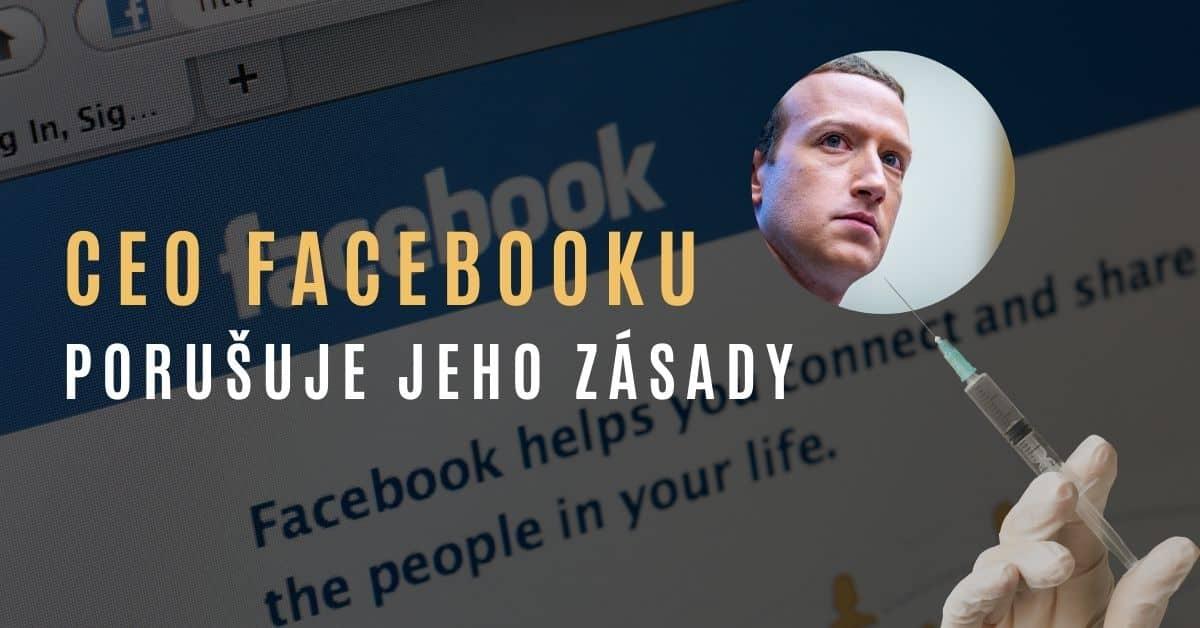 """Mark Zuckerberg svým postojem """"proti vakcíně"""" porušuje vlastní zásady Facebooku"""