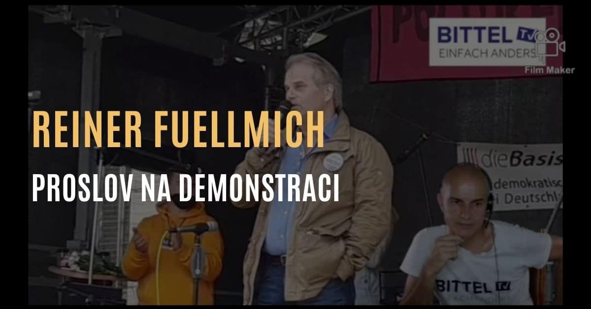 Proslov právníka Reinera Fuellmicha na demonstraci o podvodné pandemii – jak to vše začalo