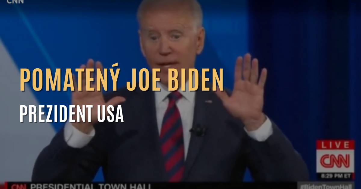 Pomatený Joe Biden, prezident USA